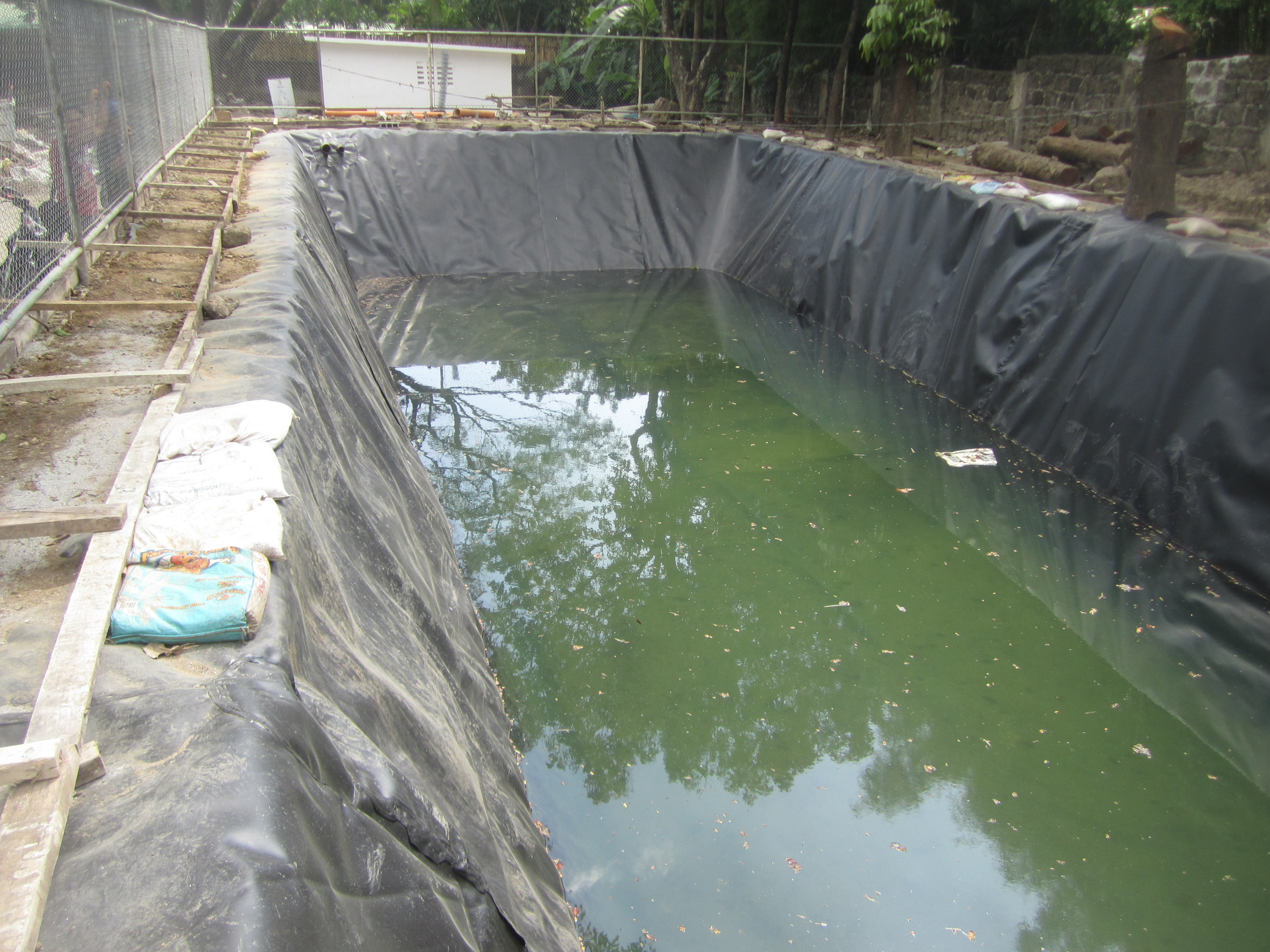 Pond liner fabrimetrics philippines inc for Koi pond liner